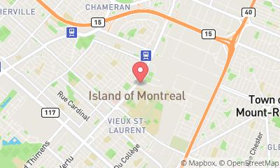 map, Florist Montreal Flower Delivery in Saint-Laurent (QC) | theDir
