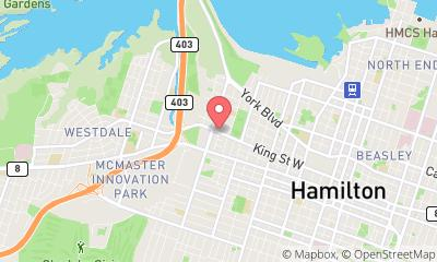 map, Veterinary Blue Cross Animal Hospital in Hamilton (ON) | theDir