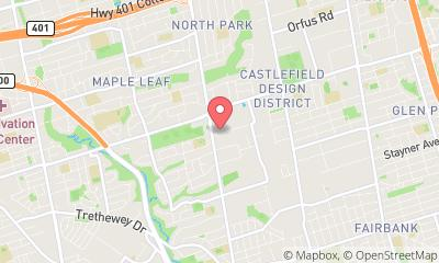 map, Gym The Fitness Center in North York (ON) | theDir