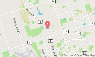map, Veterinary Simcoe Street North Animal Hospital in Oshawa (ON) | theDir